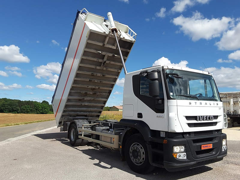 PORTEUR IVECO STRALIS AT 190S42 BENNE CEREALIERE OCCASION