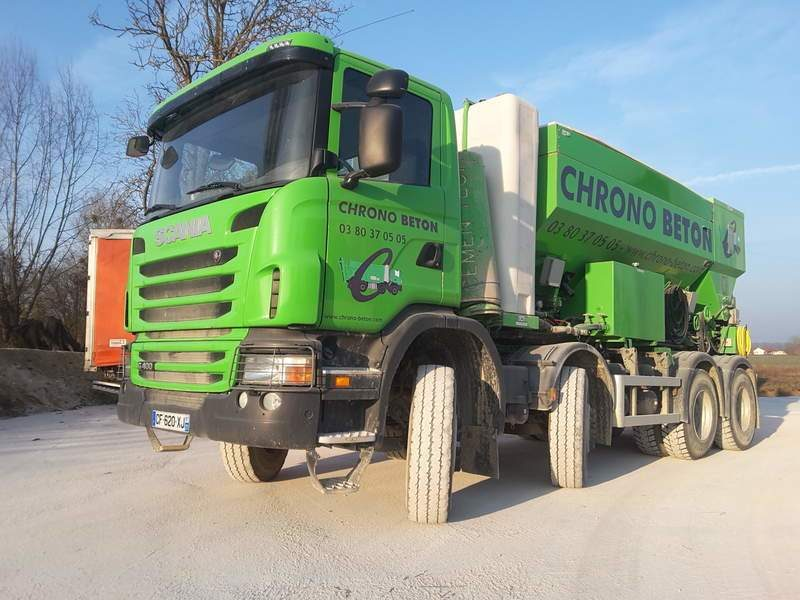 BETONNIERE MOBILE VOLUMETRIQUE SCANIA G400 8X4 OCCASION