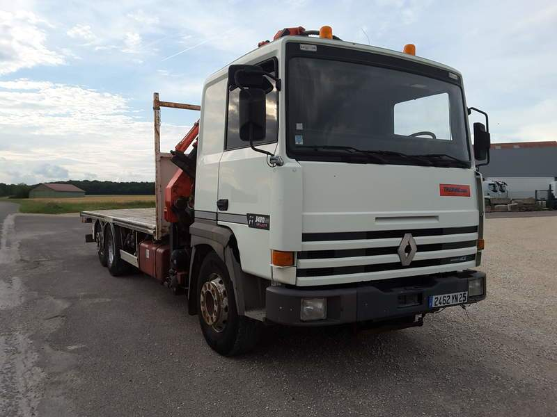PORTEUR RENAULT MAJOR R340 6X2 GRUE ATLAS OCCASION