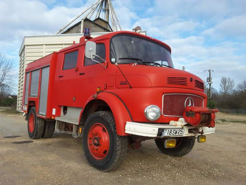 CAMION POMPIERS DE COLLECTION MERCEDES 1313 LA 4X4 OCCASION
