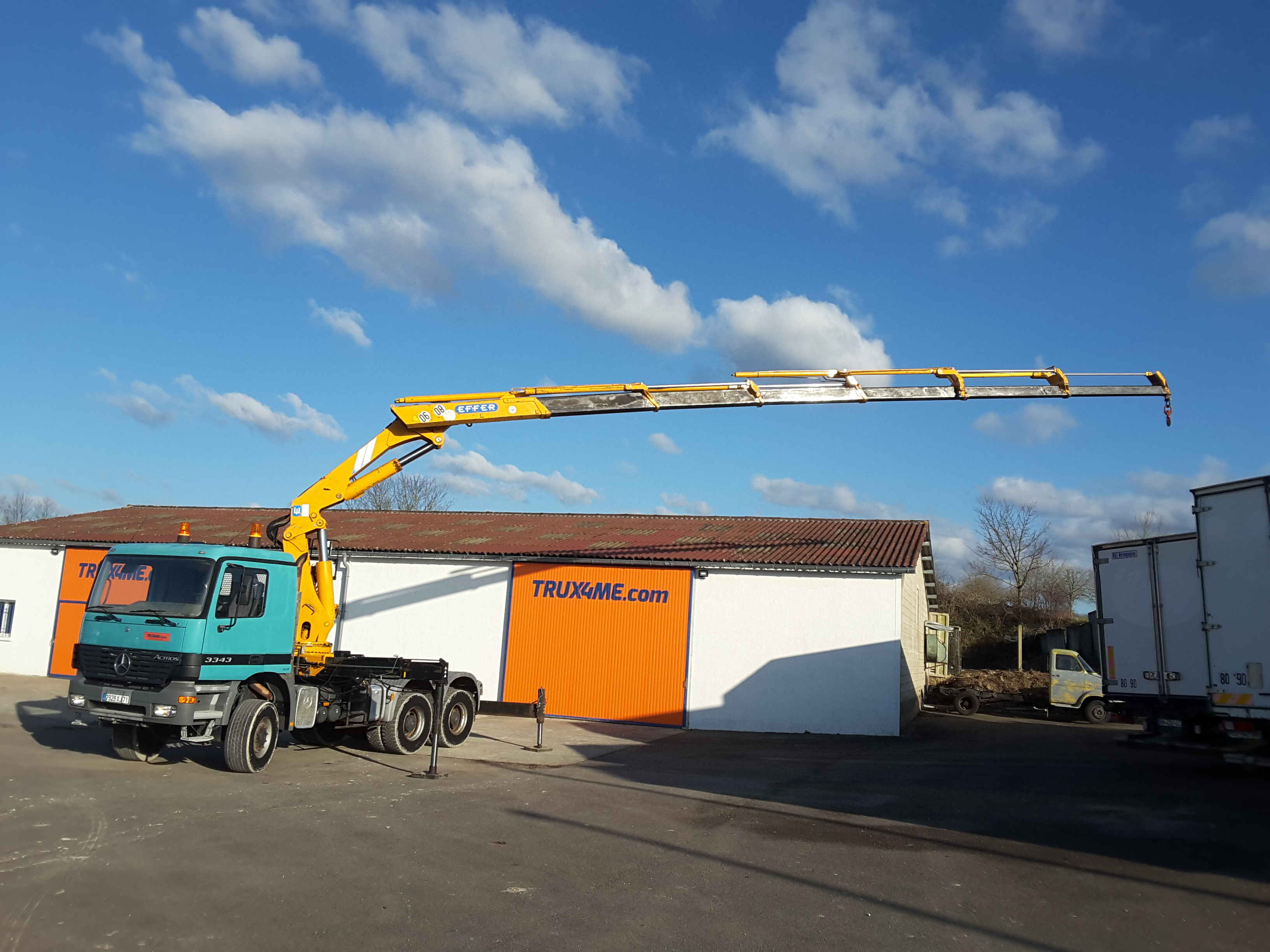 TRACTEUR MERCEDES ACTROS 3343 6X6 GRUE EFFER 360S6 OCCASION